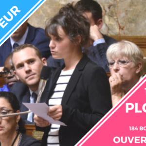 Réunion publique de Sandrine Le Feur à Plougoulm le 12 mai 2018