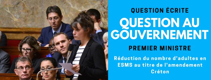 Réduction du nombre d'adultes en ESMS au titre de l'amendement Créton