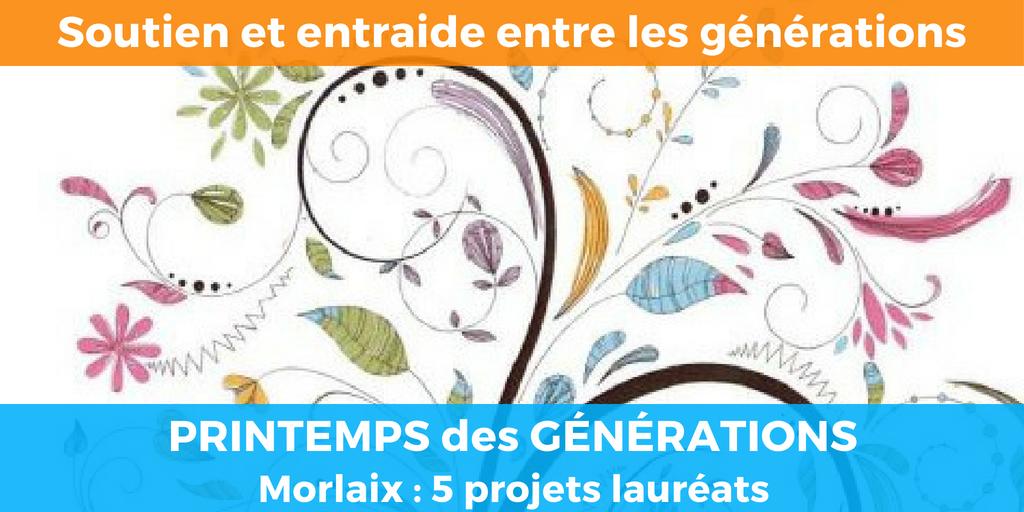 Soutien et entraide intergénérationnels : Le printemps des générations 2018 booste 5 projets