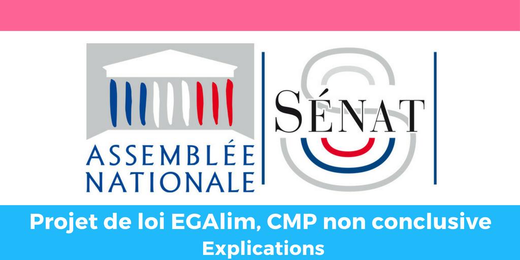 Projet de loi EGAlim, CMP non conclusive : ça veut dire quoi ?