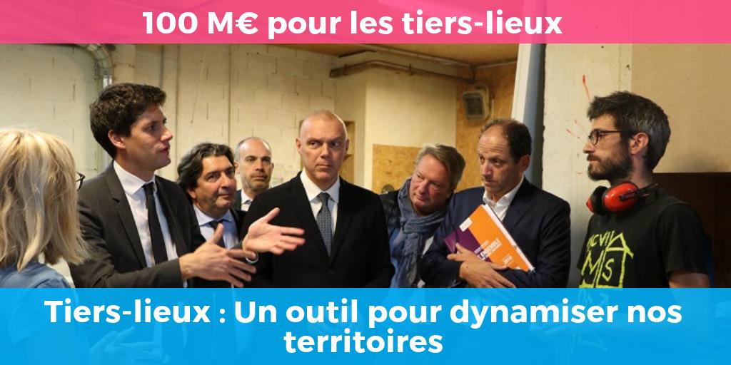 Annonce 100 M€ pour les Tiers-Lieux