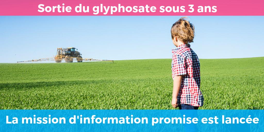 Lancement de la mission d'information glyphosate – c'est maintenant