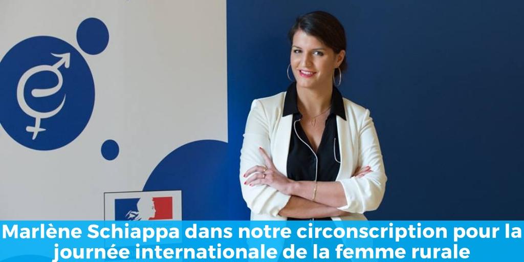 Marlène Schiappa dans notre circonscription pour la journée internationale de la femme rurale