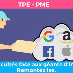 PME : Des difficultés face aux géants d'internet ? Remontez les.