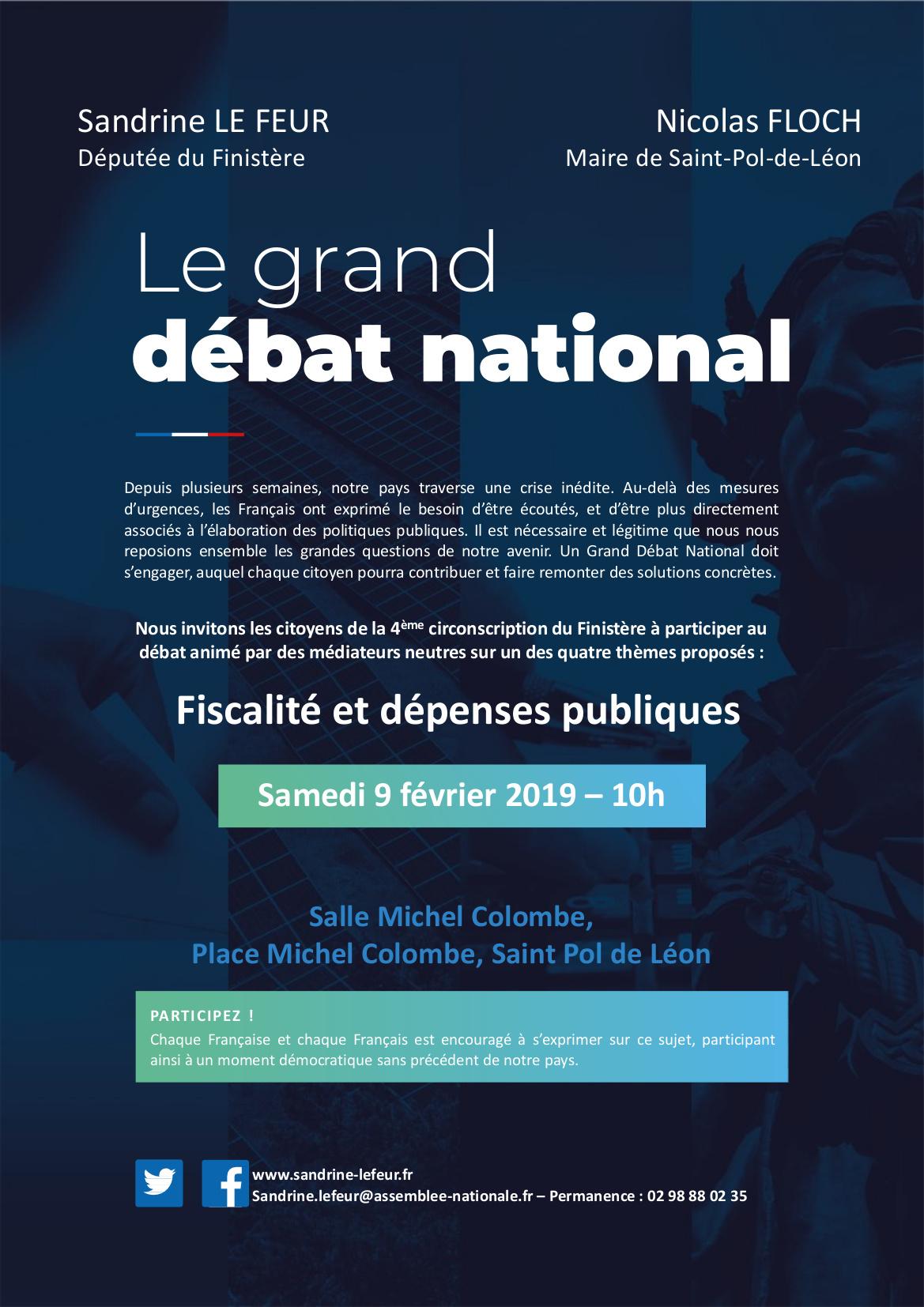 Grand Débat Saint Pol de Léon 9 février 2019