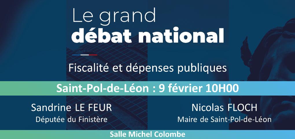 Grand Débat National : un cycle de réunions dans la 4ème circonscription du Finistère