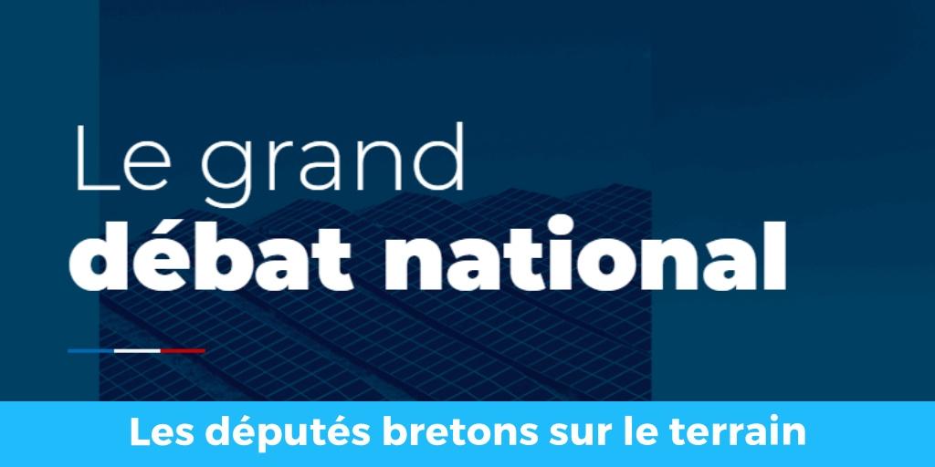 Grand Débat National : Les députés bretons engagés sur le terrain