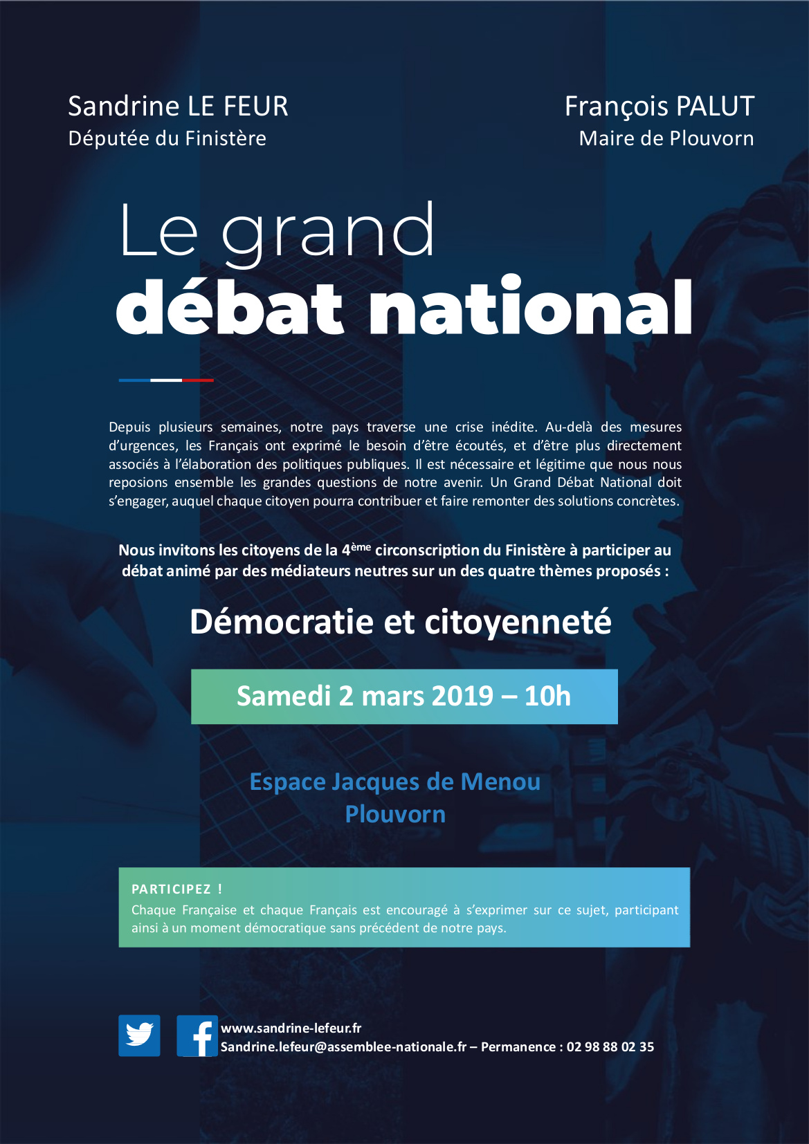 Grand Débat : Plouvorn 2 mars 2019 : Démocratie et citoyenneté