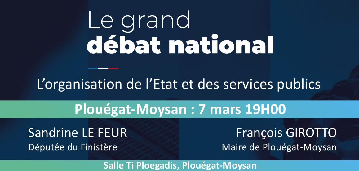 Grand Débat National : L'organisation de l'Etat et des services publics , Plouégat-Moysan le 7 mars