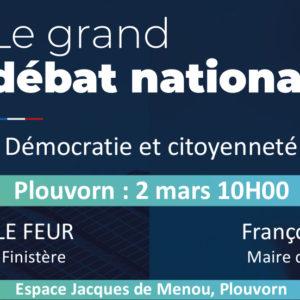 Grand Débat National : Démocratie et citoyenneté à Plouvorn le 2 mars