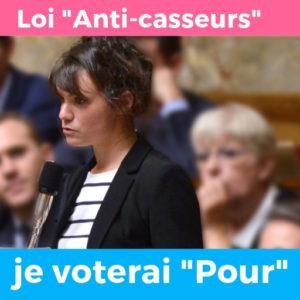 Loi anti-casseurs : je voterai pour