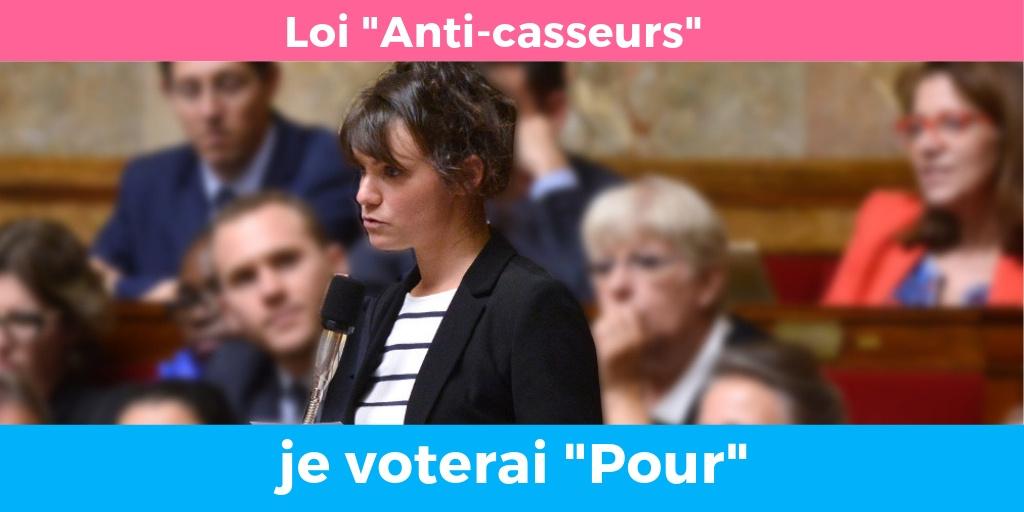 Loi « anti casseurs » : je voterai «Pour»