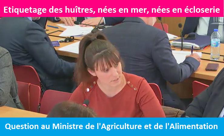Vidéo – Question au Ministre Didier GUILLAUME, sur l'étiquetage des huîtres
