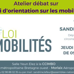 Atelier Débat sur la loi LOM organisé le 24 avril 2019 à 09h30 à la CCIMBO de Morlaix