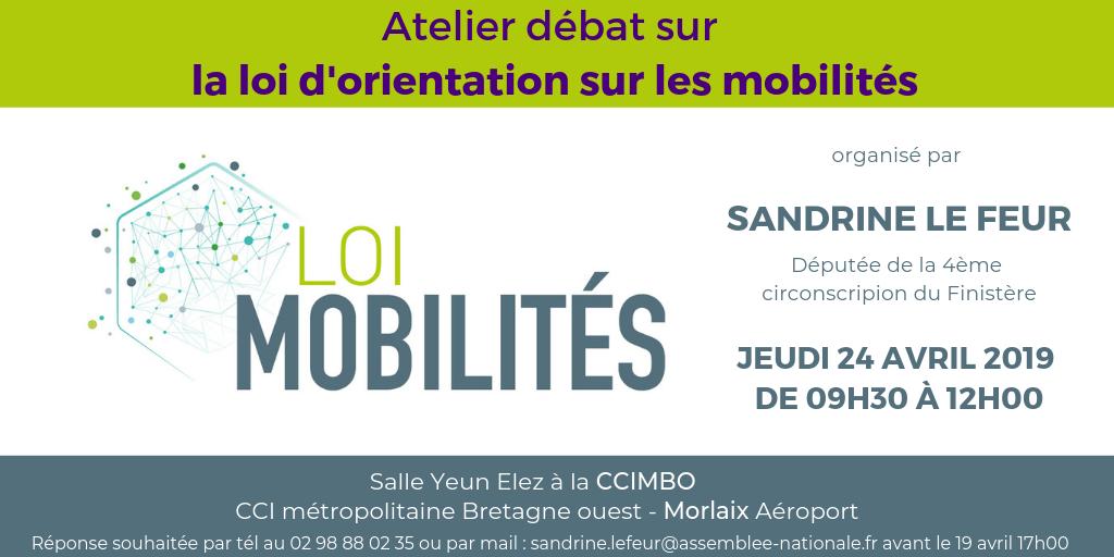 Atelier-débat sur le projet de loi d'orientation des mobilités