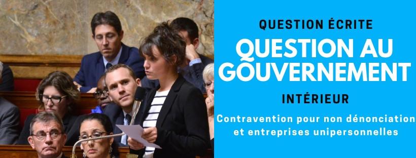 Contravention pour non dénonciation et entreprises unipersonnelles