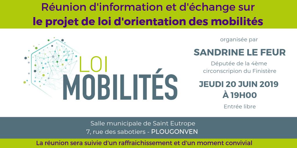 Réunion d'information loi LOM Plougonven le 20 juin 2019