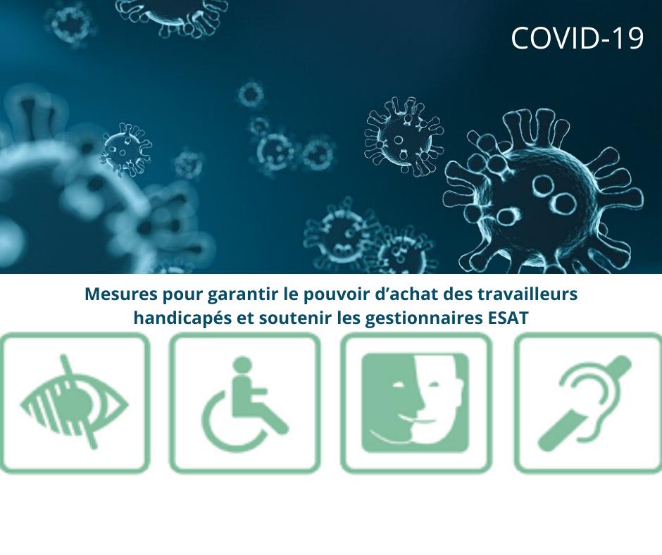 Covid-19 – Mesures concernant le maintien des salaires des travailleurs handicapés accompagnés en ESAT
