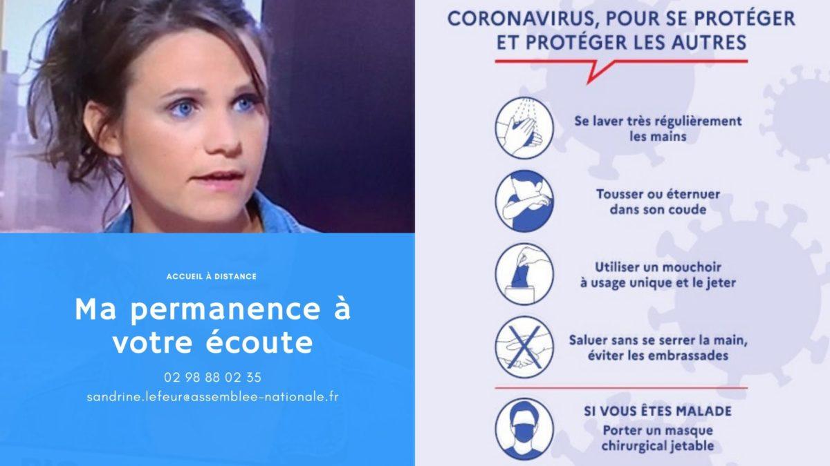 Coronavirus – Ma permanence à votre service à distance