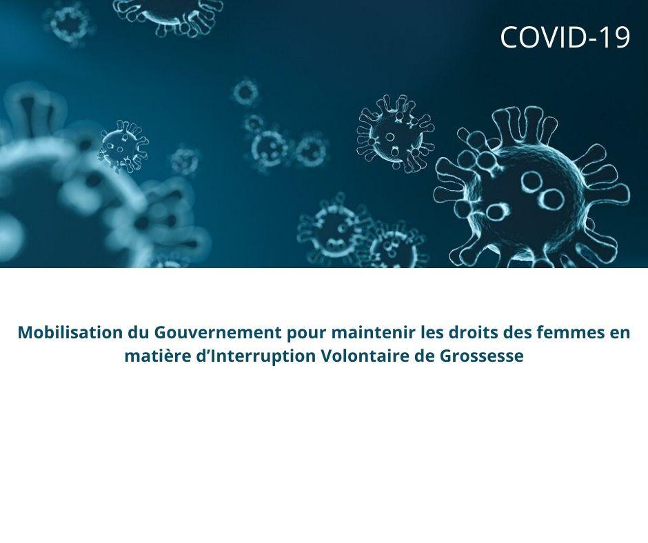 Covid-19 – Mobilisation du Gouvernement pour maintenir les droits des femmes en matière d'IVG