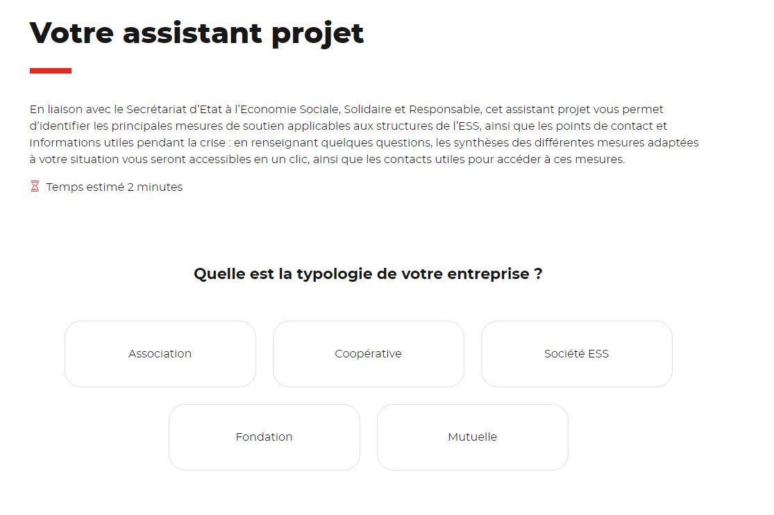 Une plateforme interactive pour identifier toutes les aides disponibles pour l'ESS