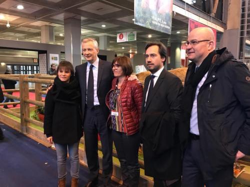 Au salon de l'agriculture 2018 avec Bruno Le Maire