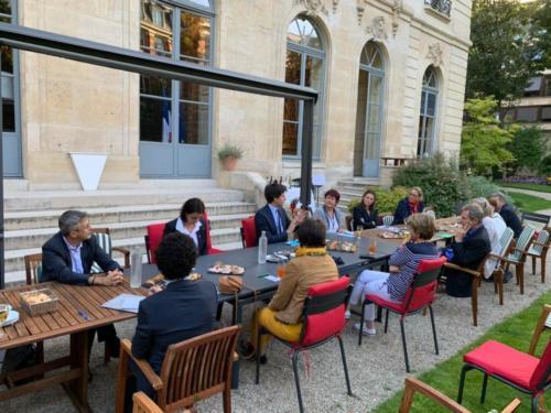 Rencontre d'échange avec le Ministre de l'Agriculture et de l'Alimentation, Julien Denormandie, 28 juillet 2020, Paris
