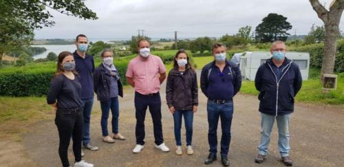 Visite du camping de Plougoulm dans le cadre de la prévention pour le port du masque, 25 juillet 2020, Plougoulm