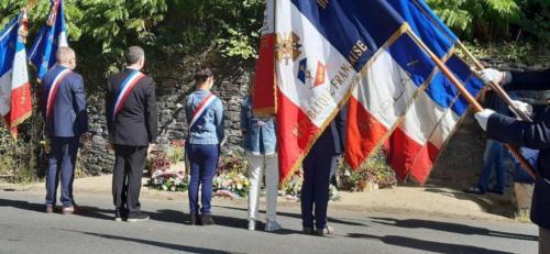 Cérémonie de commémoration, 4 août 2020, Saint-Pol-de-Léon