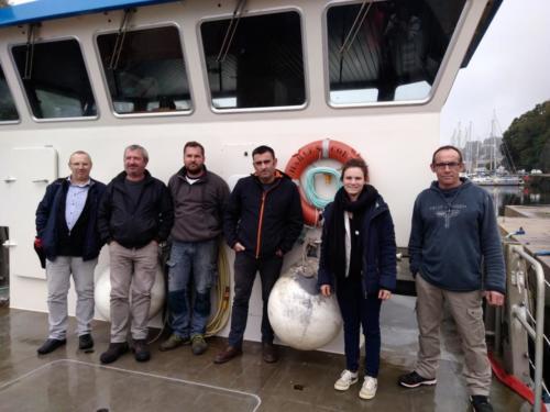 Déplacement sur le Charles Cornic - baliseur de la baie de Morlaix, Morlaix, 14 octobre 2019