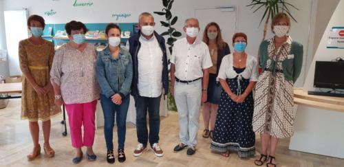 MSAP du centre et office de tourisme, encourager au port du masque, Cléder, 23 juillet 2020