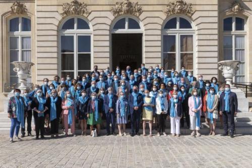 Photo de soutien à la filière lin - Hôtel de Lassay, Paris, 21 juillet 2020
