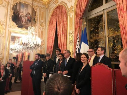 Réception hôtel de Lassay avec les Maires du Finistère, Paris, 19 novembre 2019