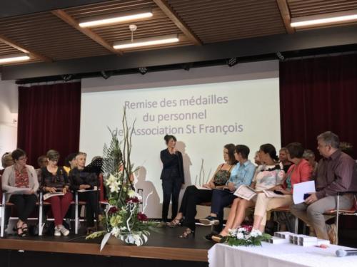 Remise de médailles aux personnels de l'EHPAD Saint François (15/06/2018)