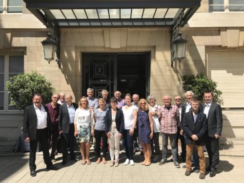 Quelques adhérents LREM me rendent visite à l'assemblée (20/06/2018)