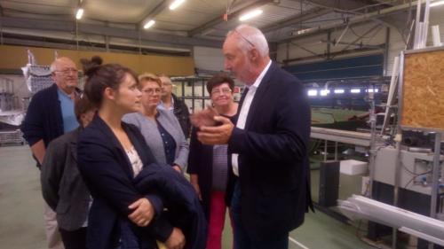 Visite de l'entreprise 2PL à Plouénan (24/09/2018)
