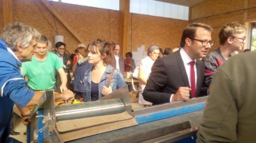 Avec le président de région, pour le cinquantenaire du lycée de Suscinio (05/10/2018)