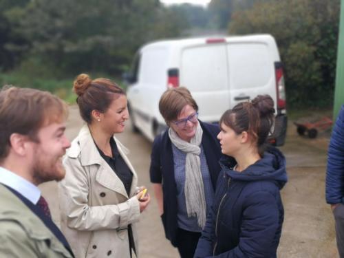 La condition féminine dans la filière agri, avec Marlène Schiappa en visite à Plougonven (15/10/2018)