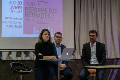 Réunion publique réforme des retraites, Taulé-Penzé, 30 janvier 2020