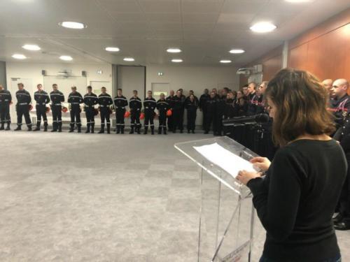 Ste Barbe des pompiers, St Pol de Léon, 7 décembre 2019